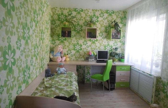 Вариант комнаты для девочки в маленькой квартире