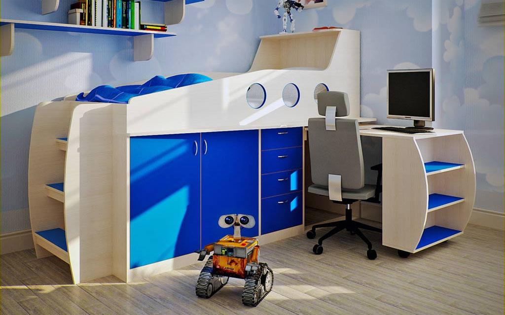 Мебель без острых углов для детской для мальчика