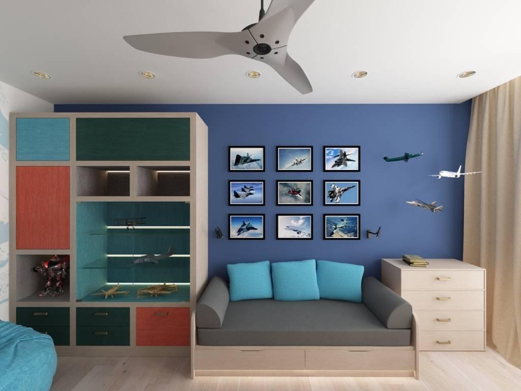 покраска стен в детской комнате фото примеров