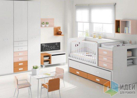 удобное зонирование комнаты для малыша