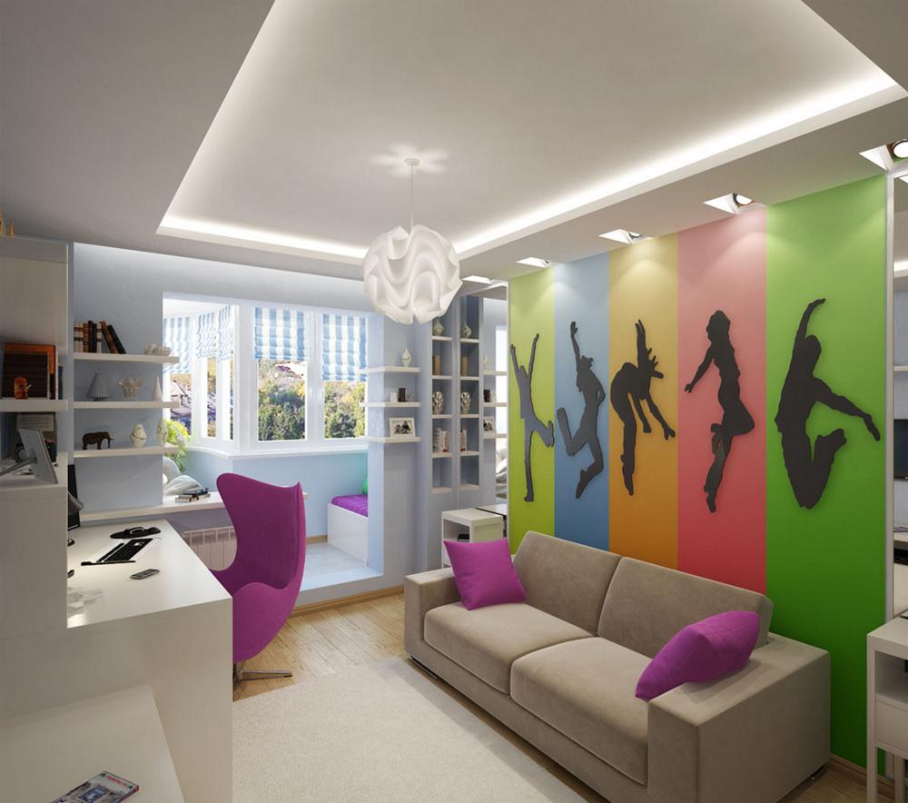 яркая комната для подростка