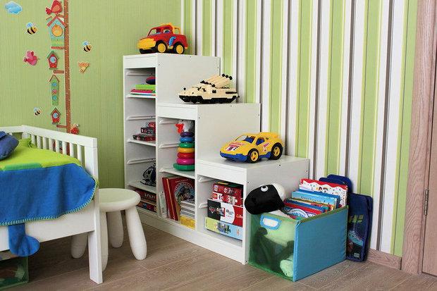 полочки для игрушек в детской