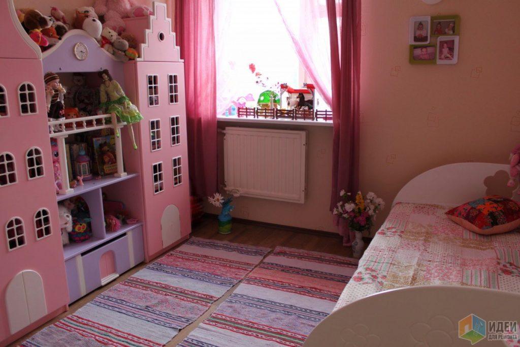 детская для девочки в розовых тонах
