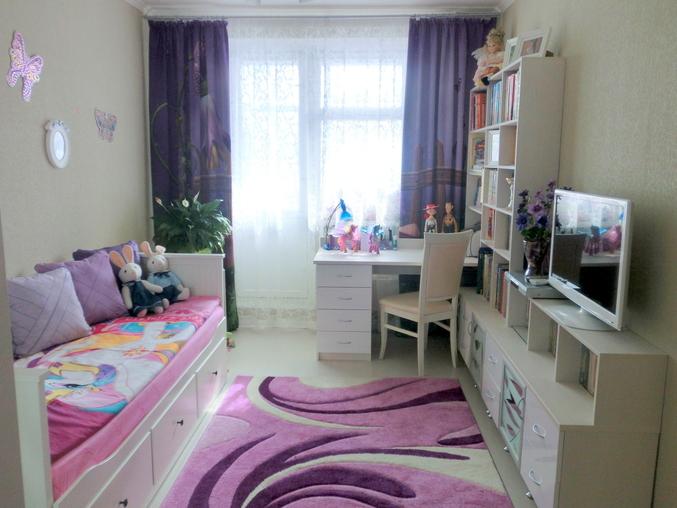 зонирование комнаты для девочки
