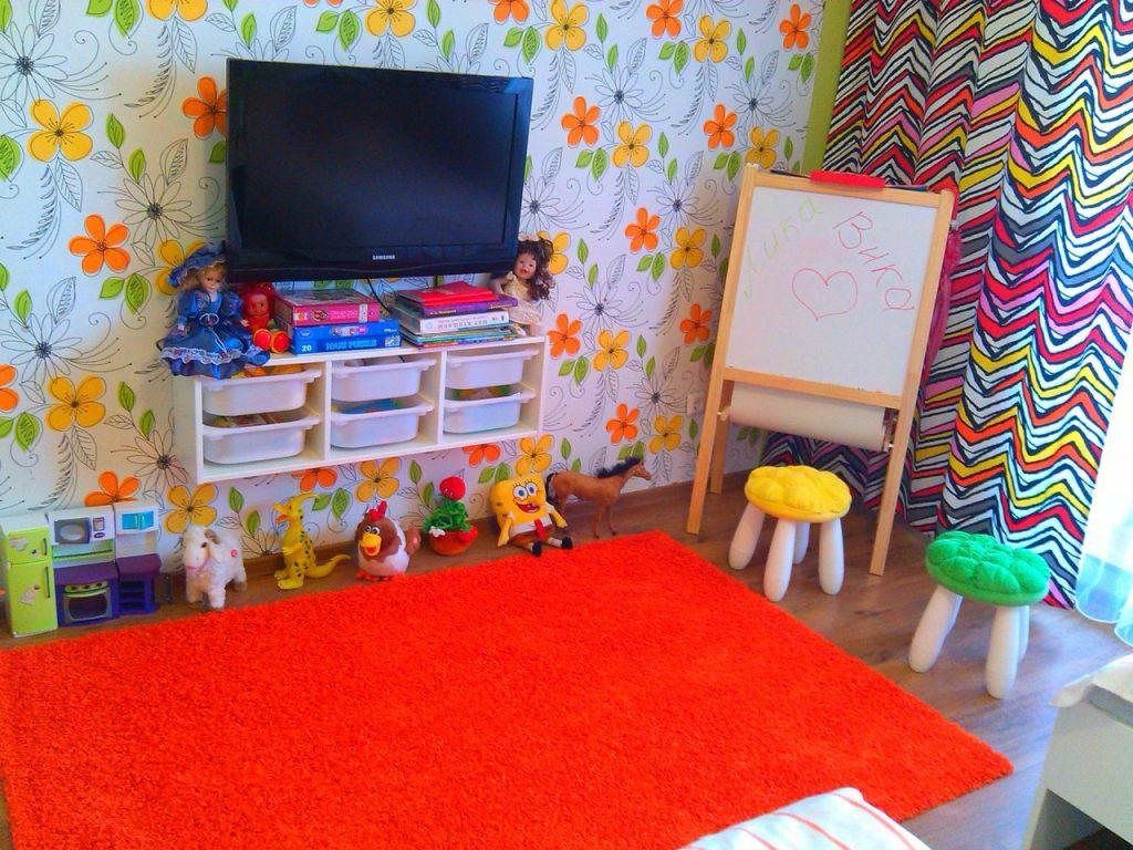 зона для игр в детской комнате