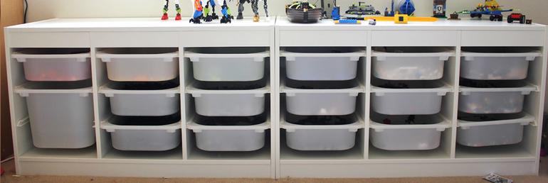полочки с ящиками
