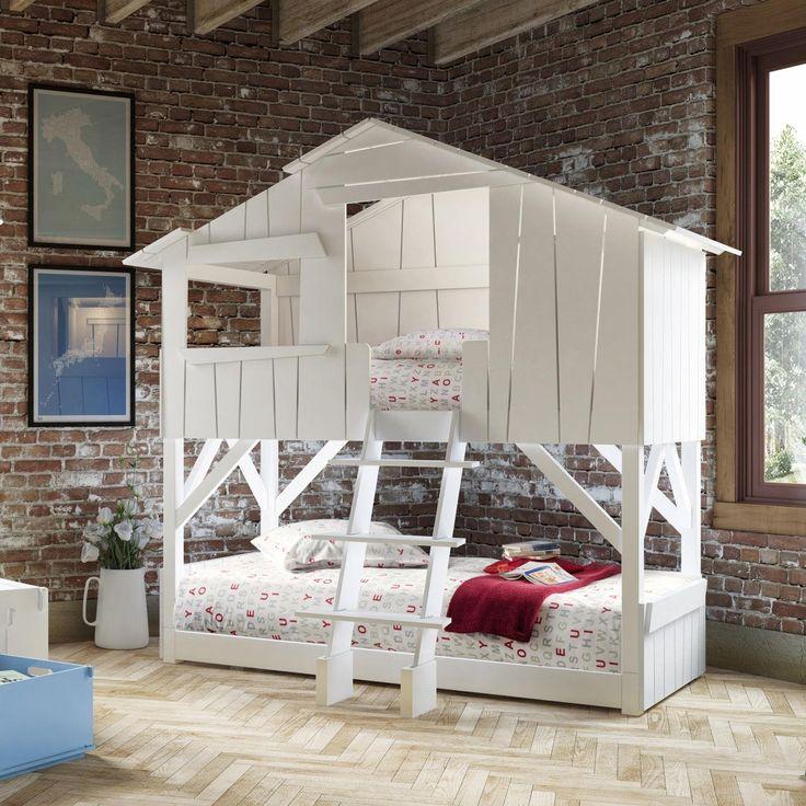 кровать-домик белая