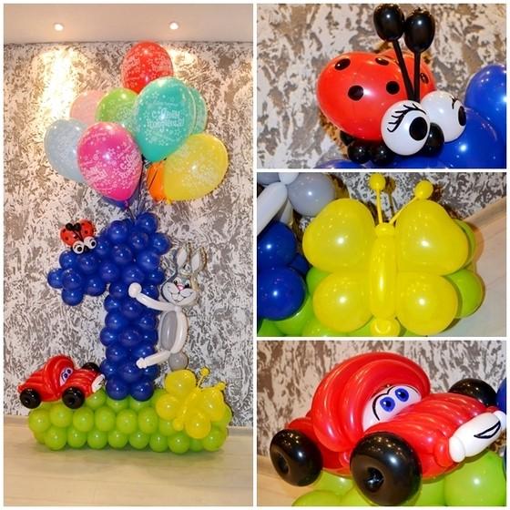 украшения из шариков на один годик
