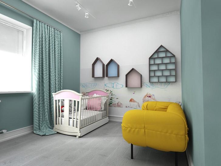 полочки в комнате ребенка