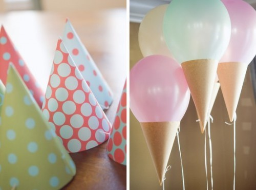 шарики в виде мороженного