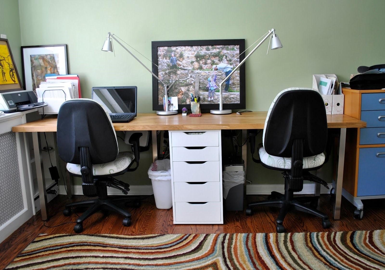 Письменный стол для двоих детей-школьников (20 фото) - реаль.