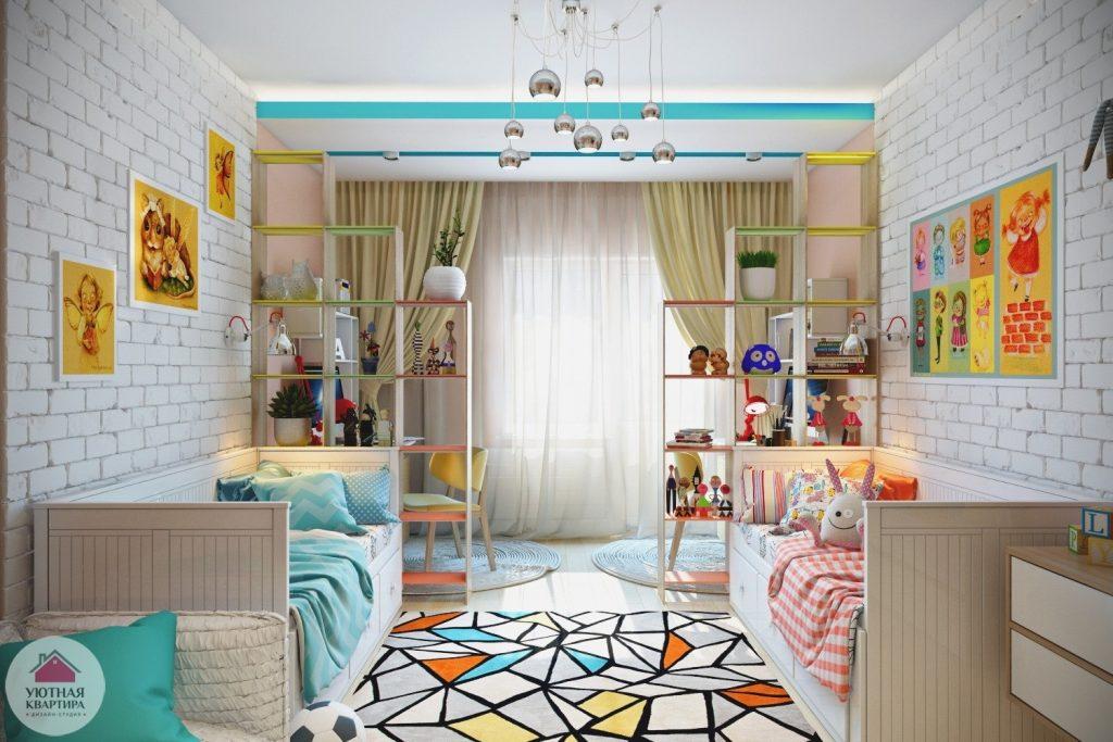 Дизайн интерьера детской для двух детей