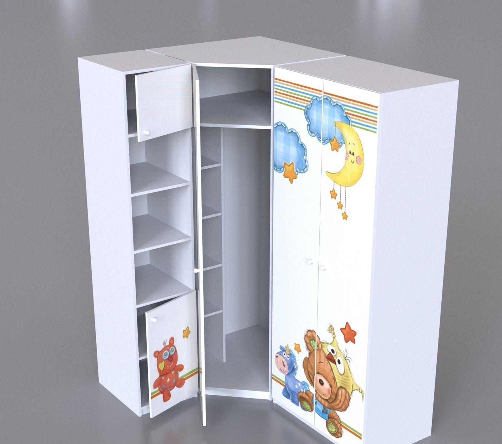Шкаф для одежды детский угловой непоседа 2000*800*800*500 бе.