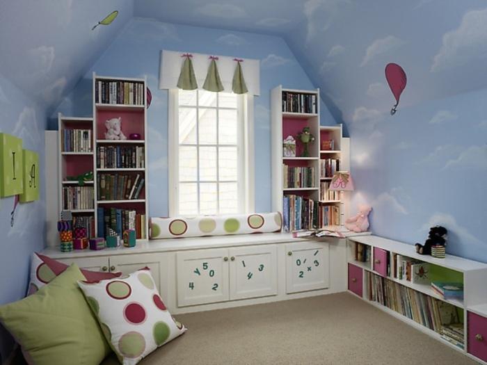 уютная комната для девочки на мансарде