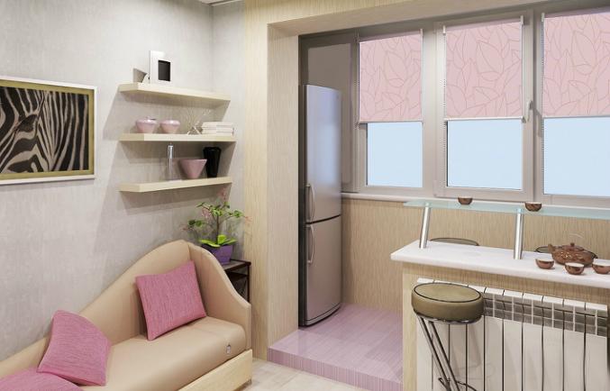 расширение комнаты за счет балкона