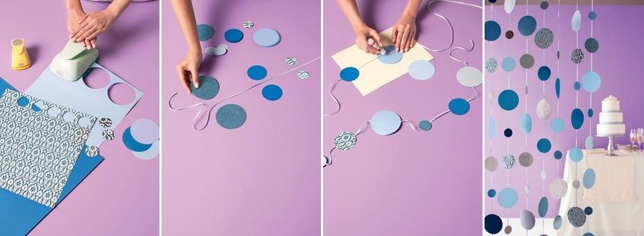 бумажные круги декор