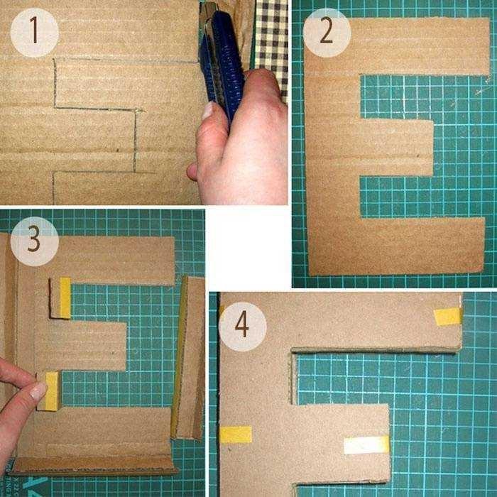 буквы из картона инструкция