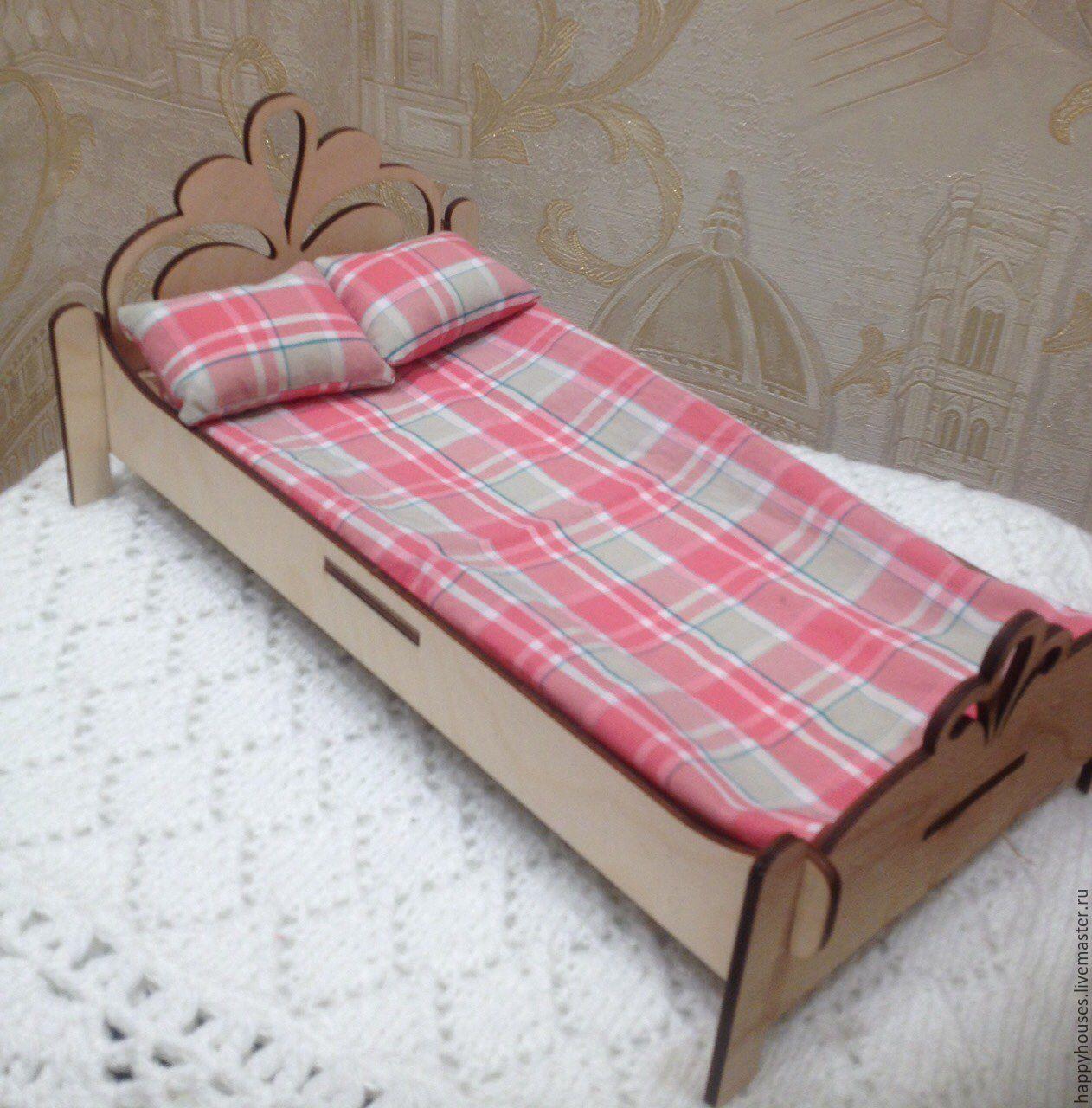 Кроватка для кукол из картонной коробки своими руками фото 694