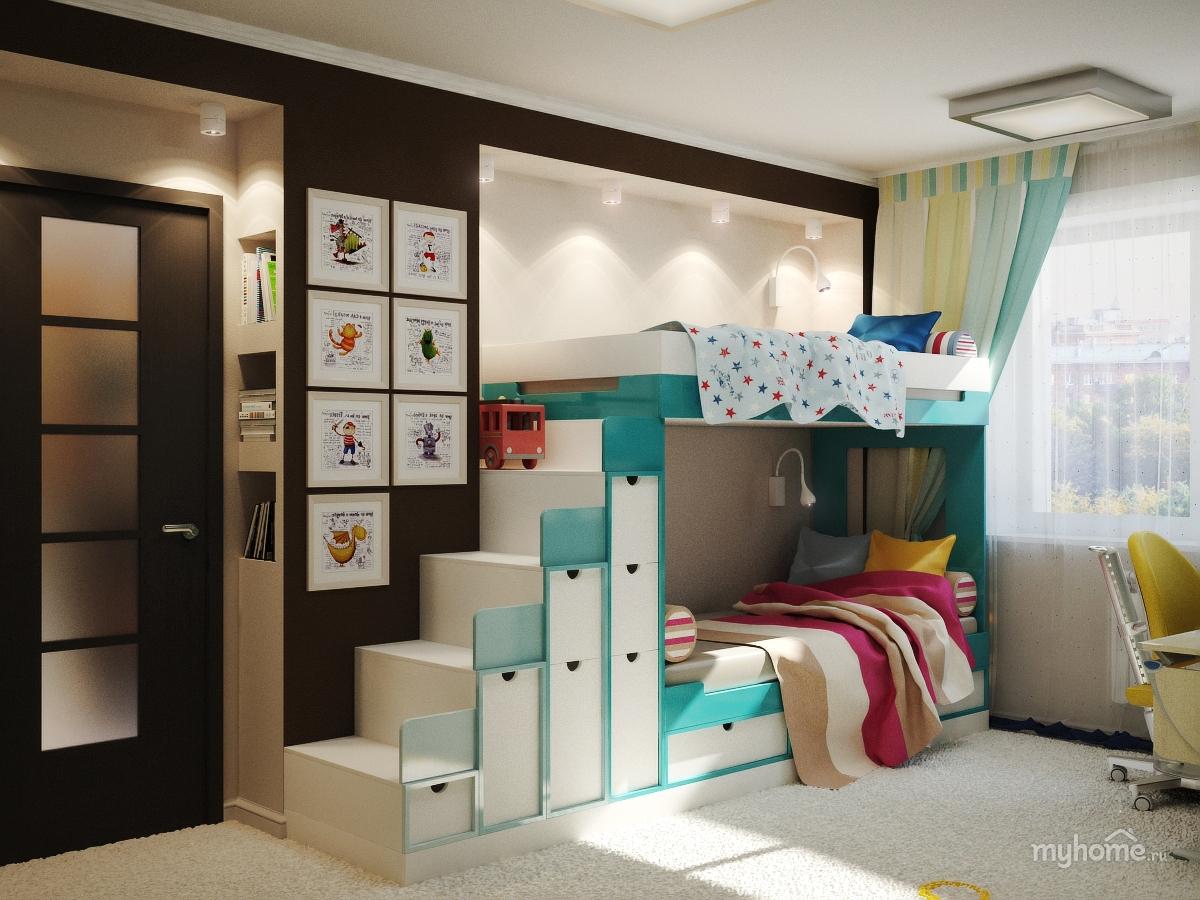мебель для детской комнаты для двоих детей 60 реальных фото