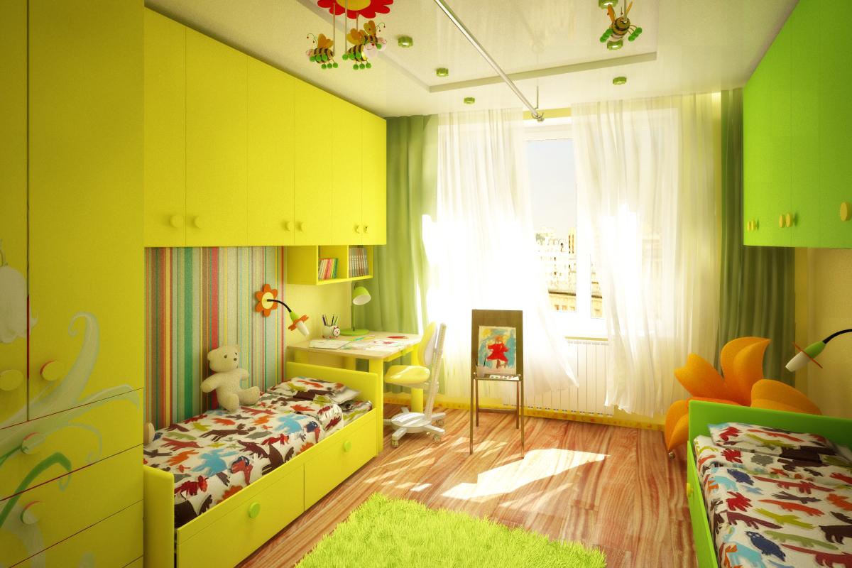 детская комната 12 18 кв для двух разнополых детей 50 фото интерьеров